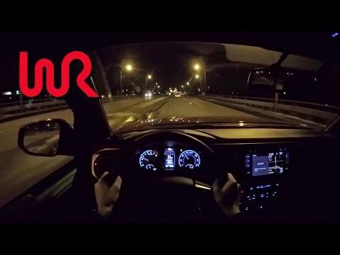 2016 Toyota Tacoma TRD Offroad Double Cab 6MT WR TV POV Night Drive