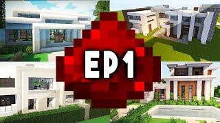 Let's Build: MODERN REDSTONE HOUSE EP 1 (Modern Design w/ Redstone Tutorials)