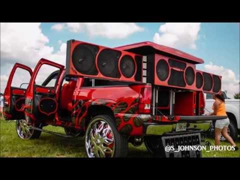 Speakers everywhere in a silverado on 32 inch DUB wheels in HD