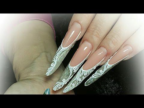 Nail art. Дизайн ногтей. Мк длинные ногти. Очень длинные.