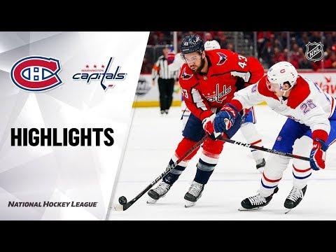 NHL Highlights | Canadiens @ Capitals 11/15/19