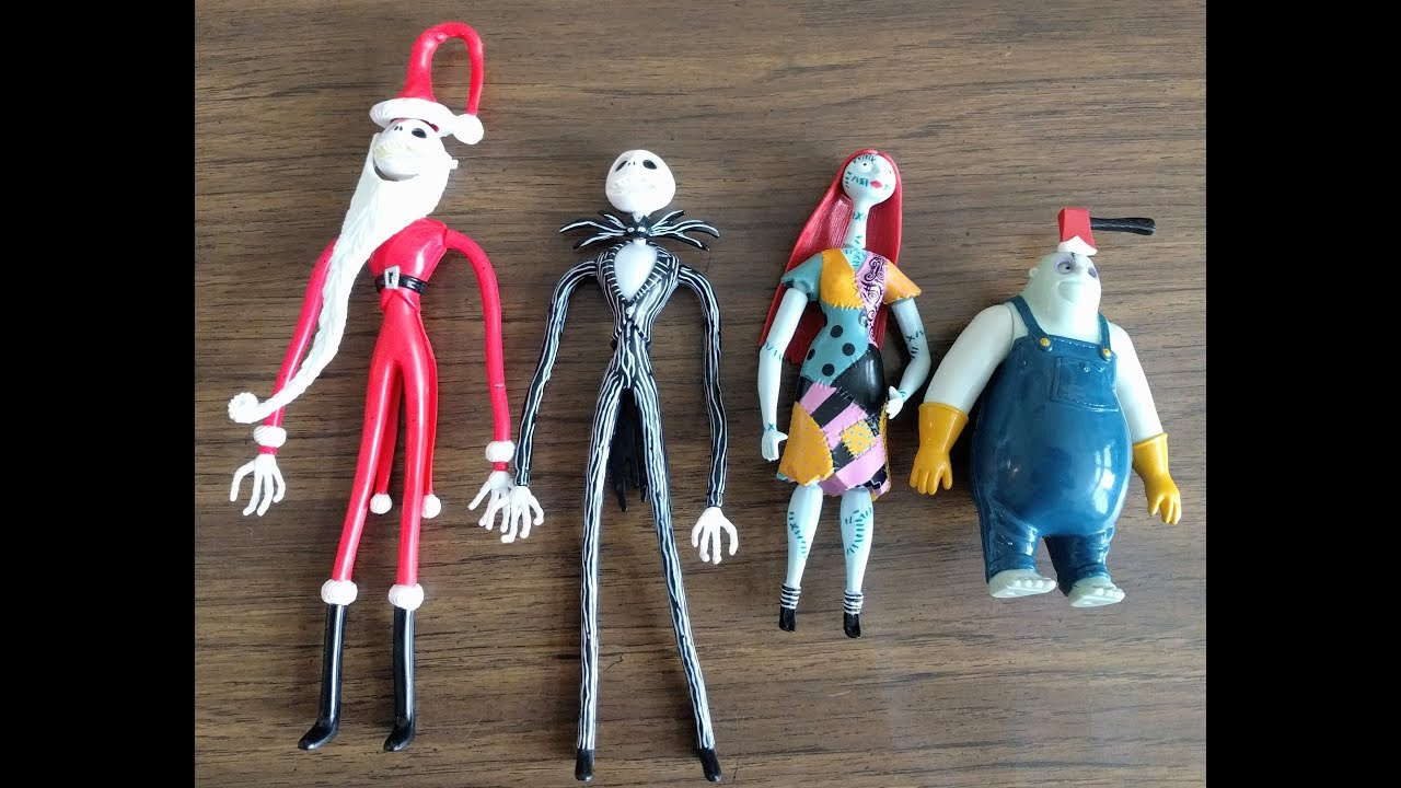 The Nightmare Before Christmas vintage 1993 action figures Jack ...