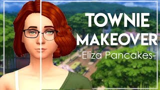 The Sims 4 | TOWNIE MAKEOVER - ELIZA PANCAKES💄 + CC LINKS
