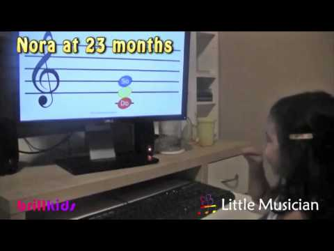 Toddler Nora Guessing Notes an...