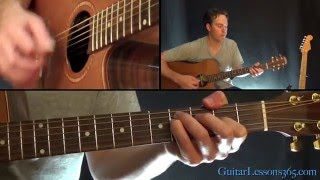 High And Dry Guitar Lesson - Radiohead - Acoustic