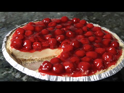 CHERRY CHEESCAKE (NO BAKE)