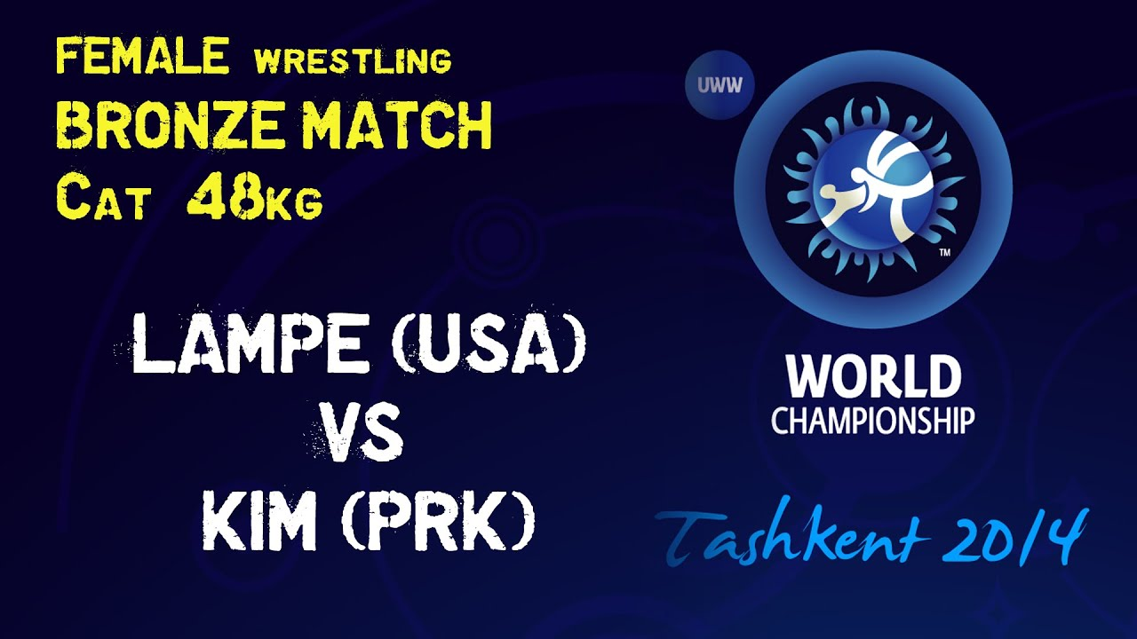 Bronze match female wrestling 48 kg a. lampe usa vs h. kim