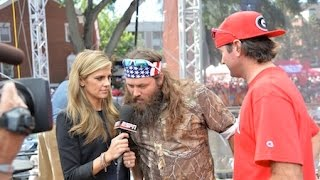 Willie Robertson of DUCK DYNASTY on College GameDay (Full Segment HD)