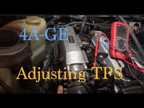 Toyota 4AGE : How to adjust the TPS / Throttle Position Sensor (AE86)