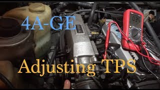 Toyota 4A-GE : How to adjust the TPS / Throttle Position Sensor (AE86)