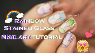 Stained Glass Watercolor Nail Art Tutorial (UberChic Beauty)