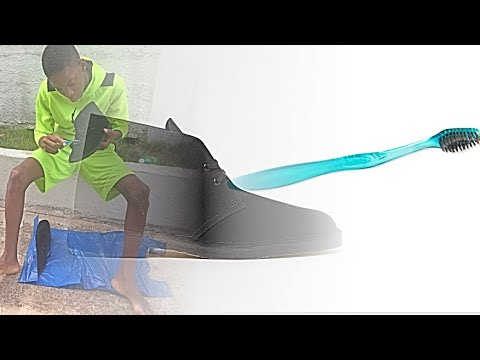 How to clean desert Clark's black suade