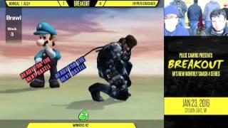 Breakout #1: Boreal Ally (Snake) vs Hyper Crasher (Luigi)