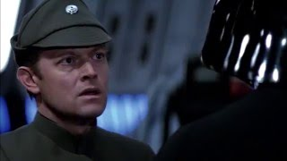 """Darth Vader: """"The emperor is not as forgiving as I am"""" (Star Wars Episode VI Opening Scene)"""