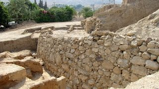 Walls of Jericho, Neolithic, Jericho, West Bank, Palestinian territories, Middle East, Asia