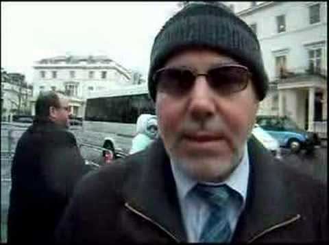 Walid Saffour at the Picket outside the Syrian Embassy