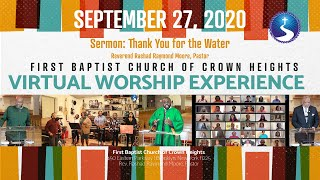 September 27, 2020: Virtual Worship Experience