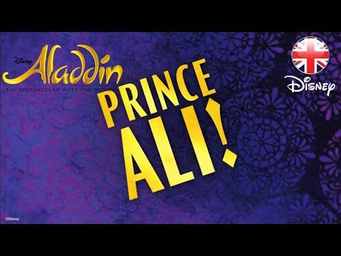ALADDIN THE MUSICAL | Prince Ali Sing-A-Long (Official Lyric Video) | Official Disney UK