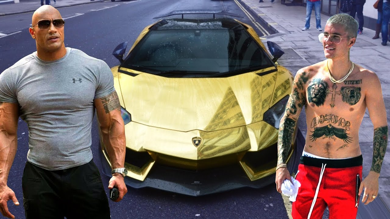 The Rock S Cars Vs Justin Bieber S Cars 2019