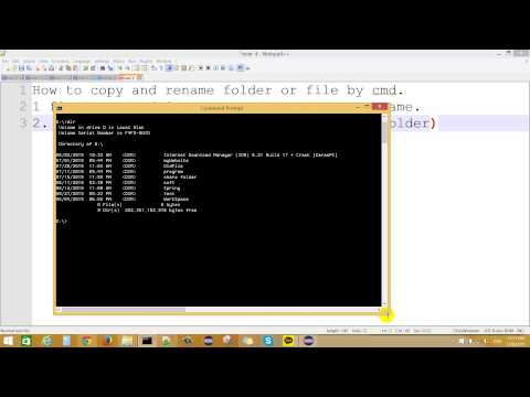 How To Rename And Copy Folder In Command Promt