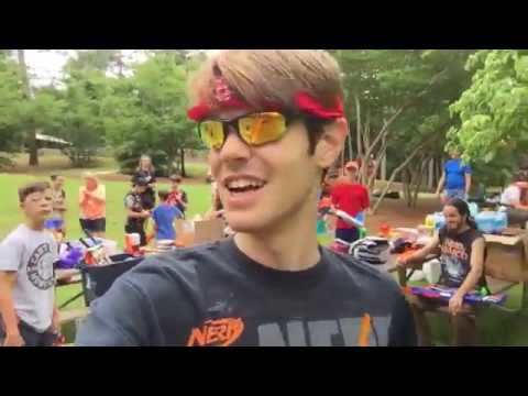 NERF WAR With the SENC!  (Stratobow rules)