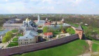 Великий Новгород, Кремль(Видео снято на квадрокоптер Phantom 3 Pro. г. Великий Новгород, Кремль., 2016-05-11T21:02:58.000Z)