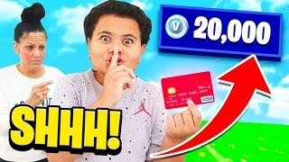Kid Buys V Bucks on Mom's CREDIT CARD Without Asking!! **intense**