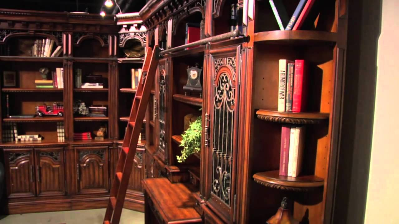 home office library furniture wall units office furniture home library parker house youtube