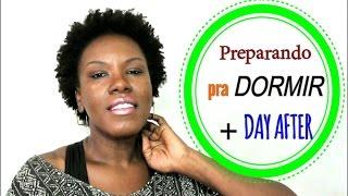 Cabelo Crespo Curto: Preparando o cabelo pra dormir + Day After - Short hair 4c - to keep definition