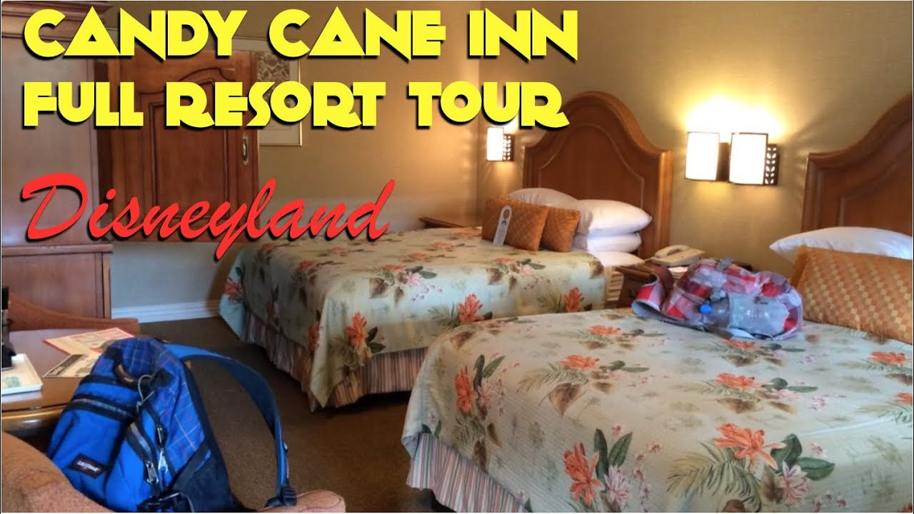 Candy cane inn disneyland anaheim youtube for Candy hotel