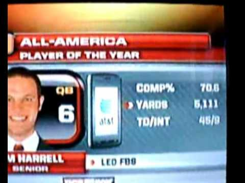 Graham Harrell All-America Player Of The Year