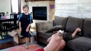 "Unkle Zac teaches Logan ""self defense"""