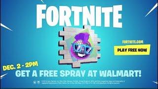 FORTNITE FREE SPRAY AT WALMART: FORTNITE GIVEAWAY!