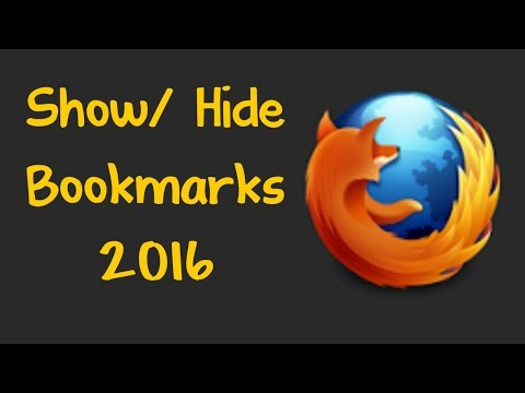 Show or Hide Bookmarks Toolbar Mozilla Firefox 2016