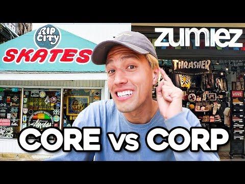 CORE VS CORPORATE SKATESHOPS!!