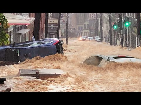 Rage of Nature in Europe !! Terrible flood in Hagen, Germany !