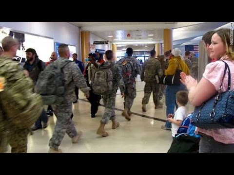 Military Troops walks into Airport | And This happens ❤ 🎵hotvocals