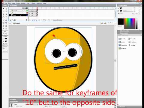 TUTORIAL : Create an animated emoticon by FLASH MX