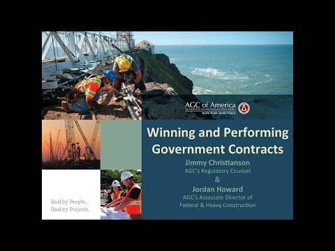 CONEXPO 2017: Winning and Performing Government Contracts