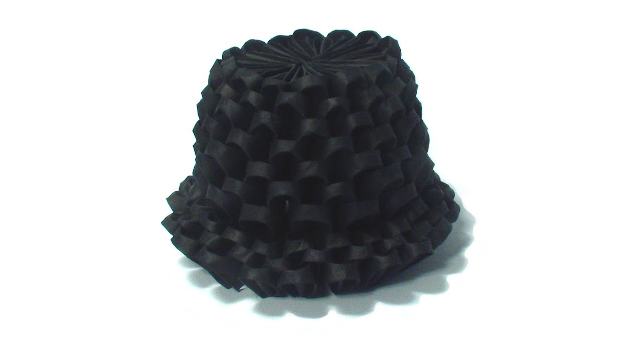 how to make an origami top hat