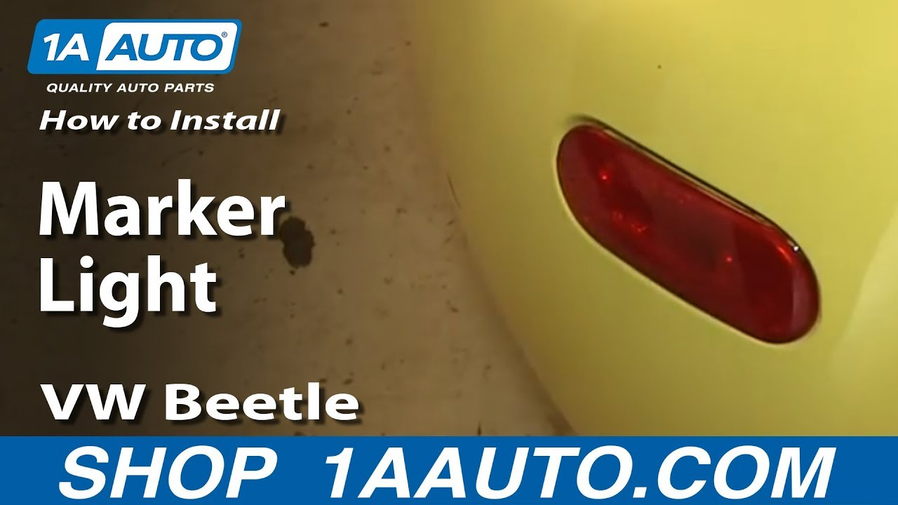 How To install Replace Rear Marker Light 1998-01 VW Beetle Bug - YouTube