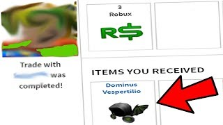 BUYING A NEW DOMINUS FOR 3 ROBUX! (Roblox)