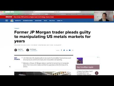 Ex JP Morgan Trader Pleads Guilty To Manipulating Gold and Silver