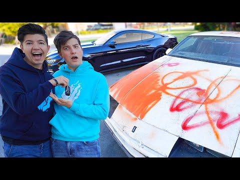 Pranking My Little Brother and then Buying his Dream Car!
