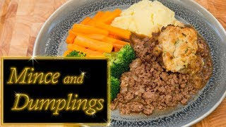 Mince beef and crispy dumplings