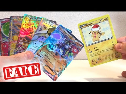 OPENING NEW FAKE POKEMON CARDS BOOSTER BOX! - POKEMON PACKS!