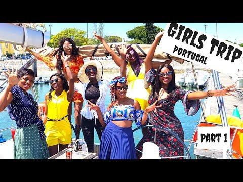 Girls Trip Portugal Part 1 | Sightseeing Lisbon, Pena Castle, Dining.....
