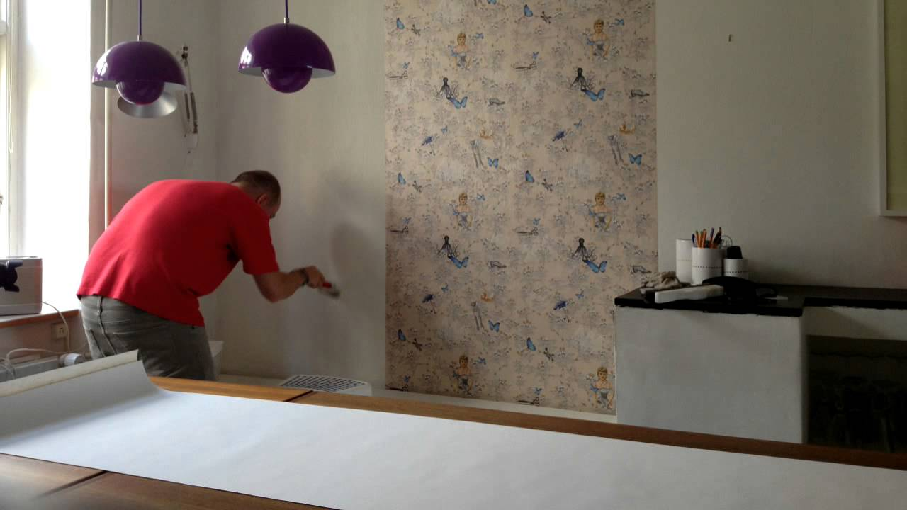 How To Transform A Kitchen With Wallpaper Youtube