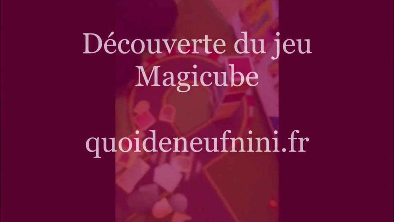 Découverte du jeu Magicube -test blog-