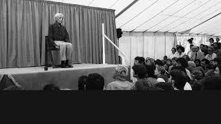 Audio | J. Krishnamurti – London 1969 – Public Talk 2 – Can the mind be free of fear?